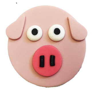 Pig Cupcake Decoration