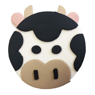 Cow Cupcake Decoration