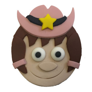 Cowgirl Cupcake Decoration