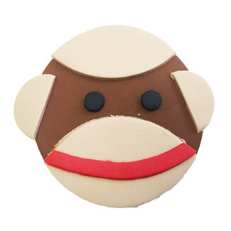 Sock Monkey Cupcake Decoration