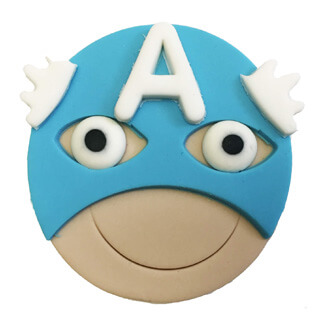 Captain America Cupcake Decoration