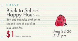 Back To School Cupcake Happy Hour