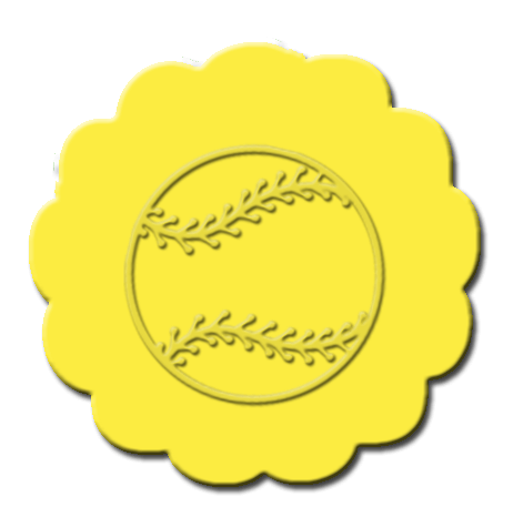 Baseball Cupcake Decoration Bright Yellow