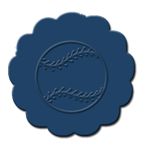 Baseball Cupcake Decoration Dark Blue