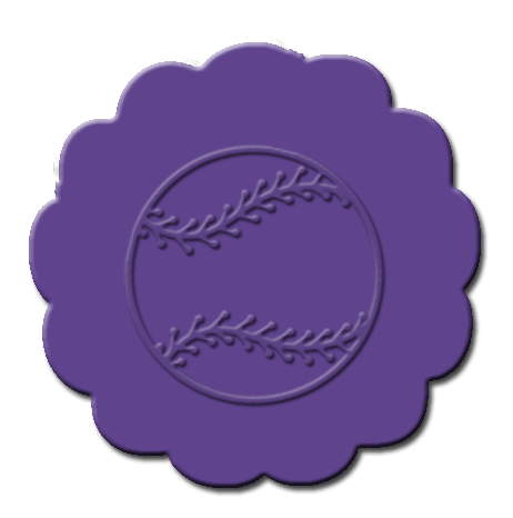 Baseball Cupcake Decoration Dark Purple