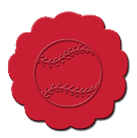 Baseball Cupcake Decoration Red
