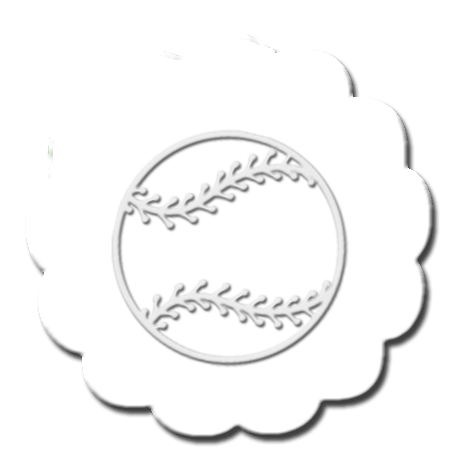 Baseball Cupcake Decoration White