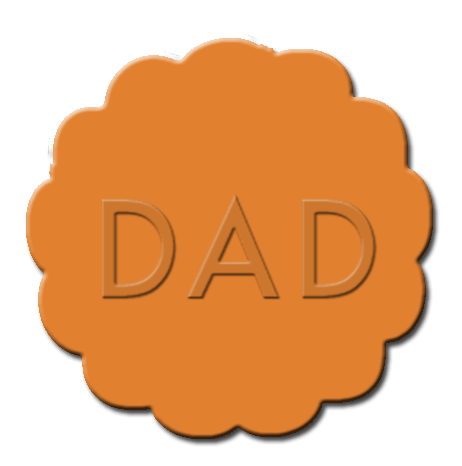 Father's Day Cupcake Decoration Dark Orange