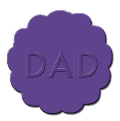 Father's Day Cupcake Decoration Dark Purple