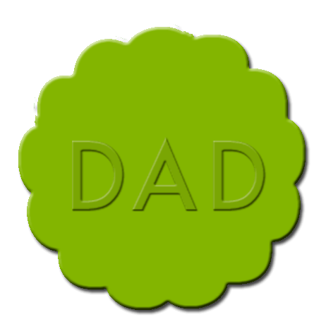 Father's Day Cupcake Decoration Lime Green