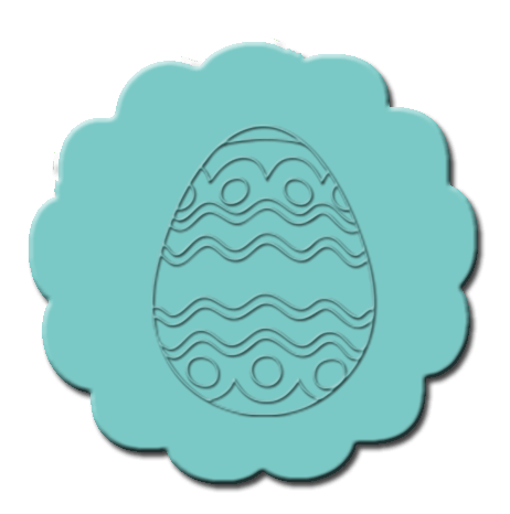 Easter Cupcake Decoration Teal