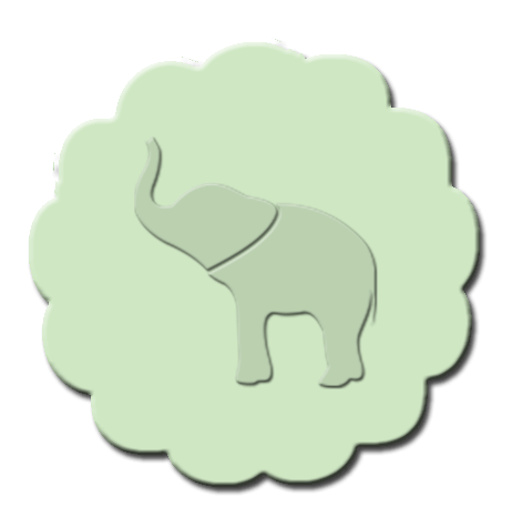 Elephant Cupcake Decoration Apple Green