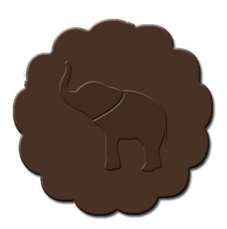Elephant Cupcake Decoration Dark Brown