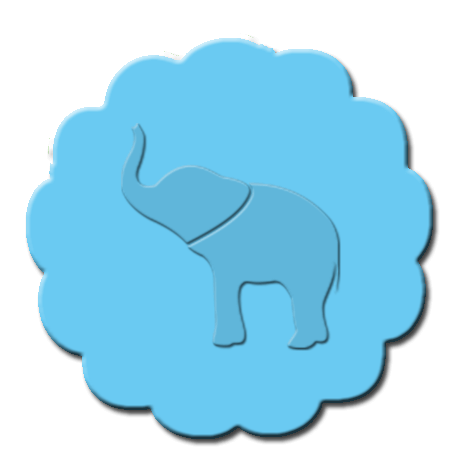 Elephant Cupcake Decoration Light Blue