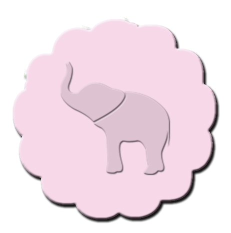 Elephant Cupcake Decoration Light Pink
