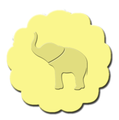 Elephant Cupcake Decoration Yellow