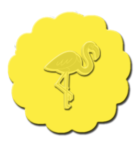 Flamingo Cupcake Decoration Yellow