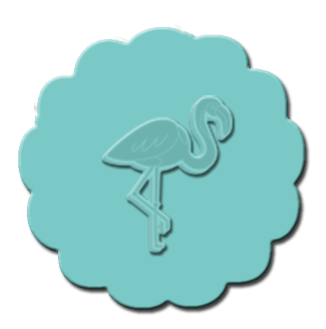 Flamingo Cupcake Decoration Teal