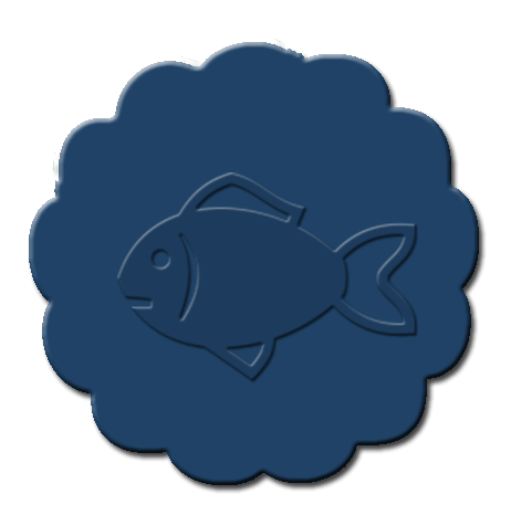 Goldfish Cupcake Decoration Dark Blue