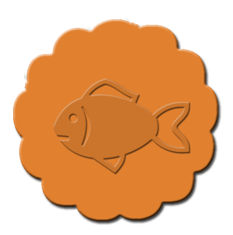 Goldfish Cupcake Decoration Dark Orange