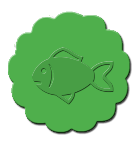 Goldfish Cupcake Decoration Green