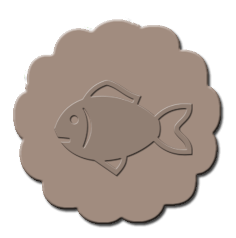 Goldfish Cupcake Decoration Light Brown