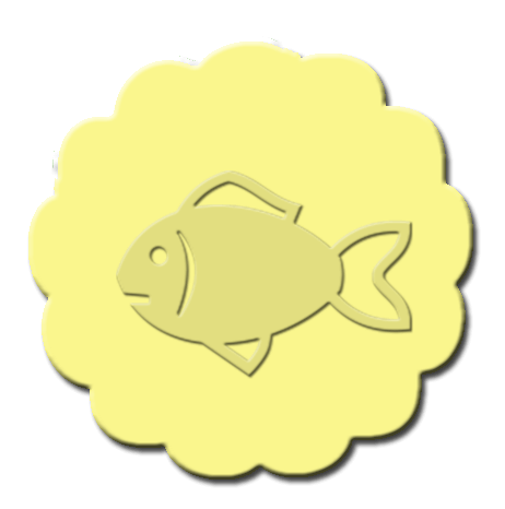 Goldfish Cupcake Decoration Light Yellow