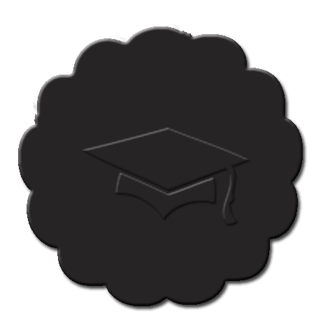 Graduation Cupcake Decoration Black