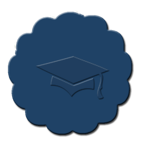Graduation Cupcake Decoration Dark Blue