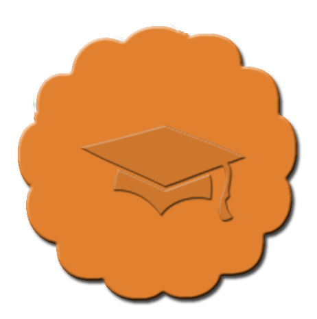 Graduation Cupcake Decoration Dark Orange