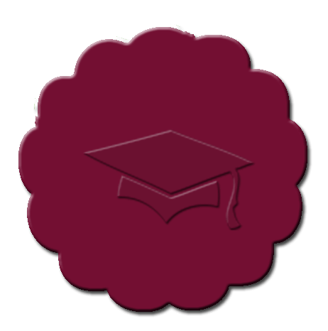 Graduation Cupcake Decoration Maroon