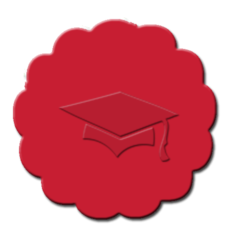 Graduation Cupcake Decoration Red