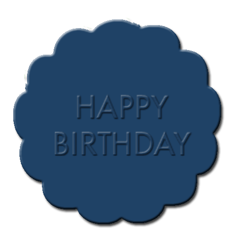 Happy Birthday Cupcake Decoration Dark Blue