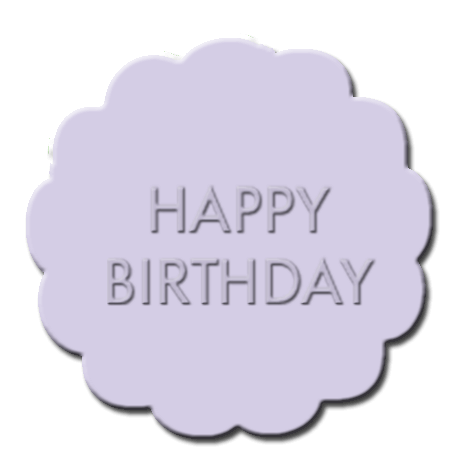 Happy Birthday Cupcake Decoration Light Purple
