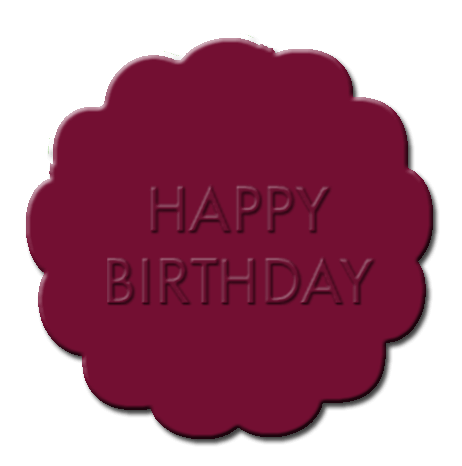 Happy Birthday Cupcake Decoration Maroon