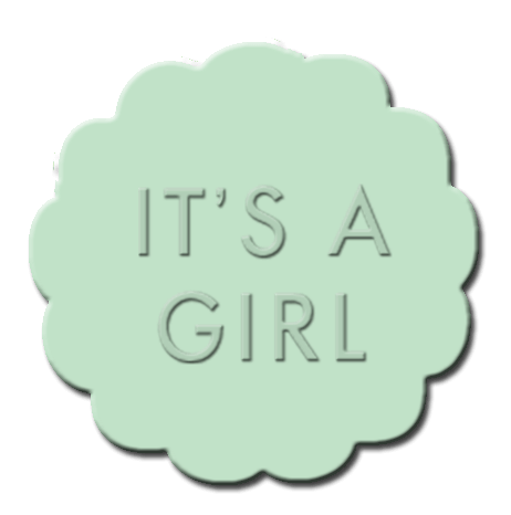 Gender Reveal Cupcake Decoration Mint Green
