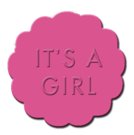 Gender Reveal Cupcake Decoration Dark Pink