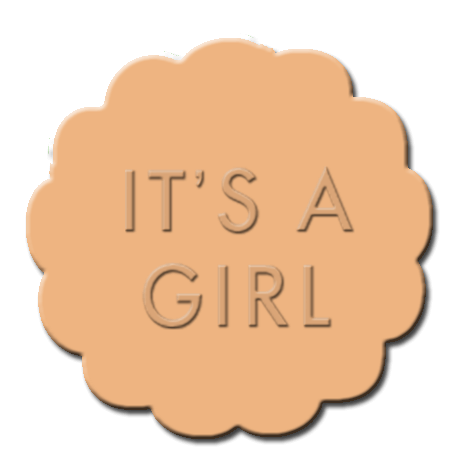 Gender Reveal Cupcake Decoration Orange