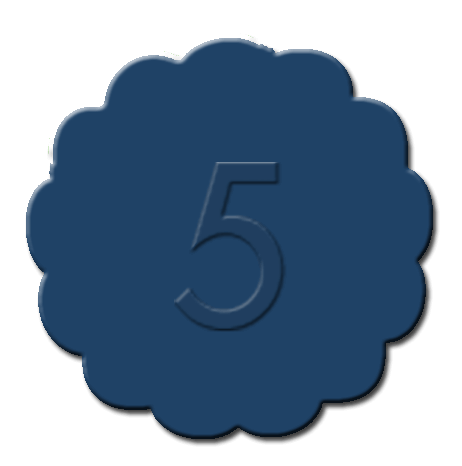 Numbers Cupcake Decoration Dark Blue