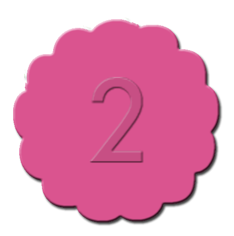 Numbers Cupcake Decoration Dark Pink