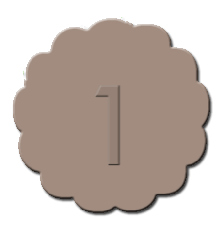 Numbers Cupcake Decoration Light Brown
