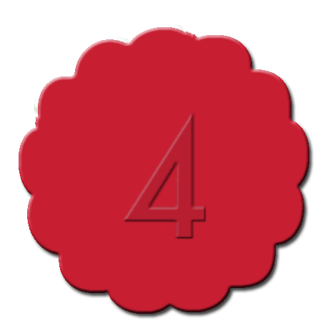 Numbers Cupcake Decoration Red