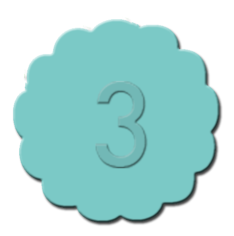 Numbers Cupcake Decoration Teal