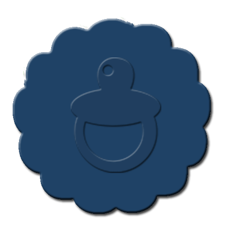 Baby Pacifier Cupcake Decoration Dark Blue