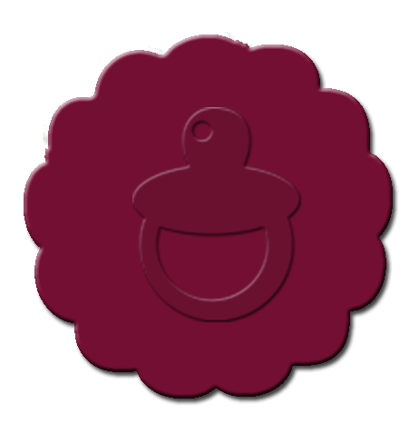 Baby Pacifier Cupcake Decoration Maroon