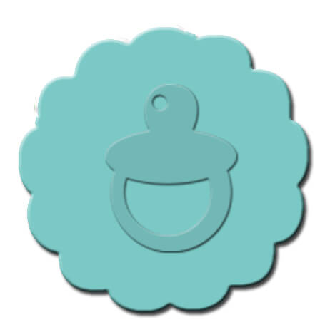 Baby Pacifier Cupcake Decoration Teal