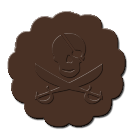 Pirate Cupcake Decoration Brown