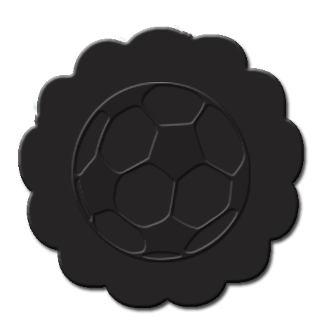 Soccer Cupcake Decoration Black