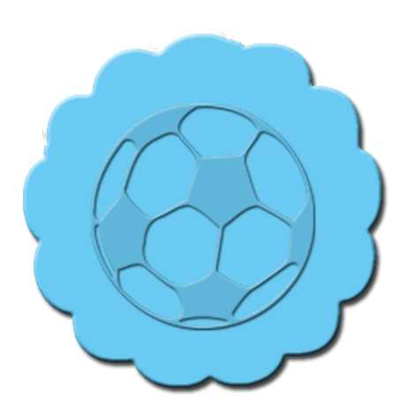 Soccer Cupcake Decoration Light Blue