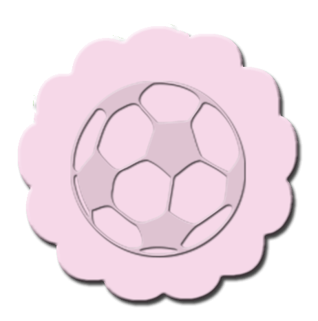 Soccer Cupcake Decoration Light Pink